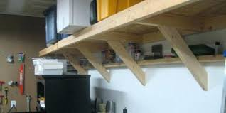 Small Picture Image Of Build Garage Shelves Gallerywood Wall Woodworking Plans