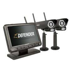 Monitor DVR Security System with 2 Night Vision Cameras and Wireless Camera Systems - The