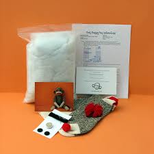 diy sock monkey kit