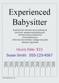 Babysitting Flyer Template Great Free Babysitting Flyer Template Wanted Ad Babysitter