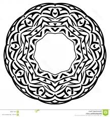 meditation vector filigree abstract vector black white ilration round beautiful tracery frame decorative vintage ethnic