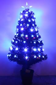 The Black Blue Star Fibre Optic Tree