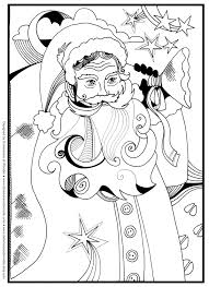 Santa Christmas Around The World Coloring