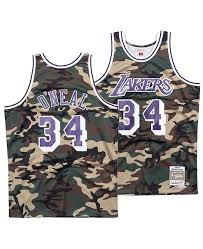Mens Shaquille Oneal Los Angeles Lakers Woodland Camo Swingman Jersey