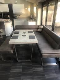 image corner dining set. Caspian Corner Dining Set Grey - Nearly New 5/6 Seater Bought From Housing Units Image A
