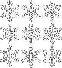雪の結晶氷の結晶のイラストふちありイラスト No 277866無料