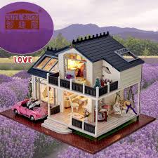 whole diy miniature wooden doll house furniture kits toys handmade craft miniature model kit dollhouse toys gift for children a032 kids dolls house