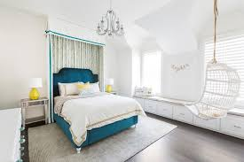 blue and white bedroom for teenage girls. Exellent Teenage White And Blue Teen Girl Bedroom With Curtains Behind Bed Inside And For Teenage Girls
