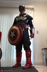 captain america homemade costume diy
