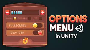 Android Game Menu Design Settings Menu In Unity