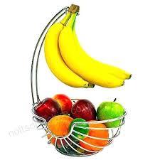 chrome fruit basket with banana hanger elegant and decorative bowl hook bowls uk