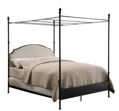 Dickerson California King Size Canopy Bed Gun Metal
