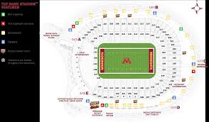 Gopher Hockey Seating Chart Tcf Bank Stadium Seating Map Map 2018