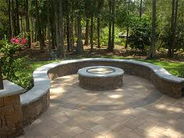 stamped concrete patio with square fire pit. Fireplace Raised Paver Patio Square Concrete Stamped Curved  Designs | Gazebo Stamped Concrete Patio With Square Fire Pit S