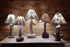 rustic tree lamps and lamp shades with leaves rustic tree lamps and lamp shades with leaves