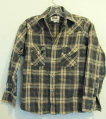 A Boys Vintage 90s Long Sleeve Plaid Western Shirt By Ely Cattleman M 10