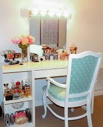 desk as vanity ideas