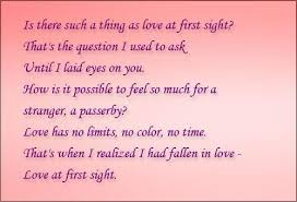 Love Poem Love At First Sight Collection Of Inspiring Quotes Delectable Quotes About Love At First Site