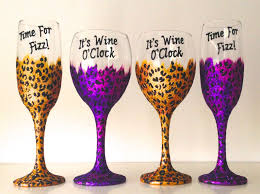 personalised leopard print champagne flute wine glass