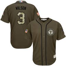 Majestic Authentic Russell Wilson Mens Green Mlb Jersey