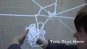 How To Make A Giant Spider Web Giant Spider Web Creation Tutorial Youtube