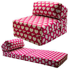 kids chair bed. Contemporary Bed Gilda JAZZ CHAIRBED  KIDS PRINTS Deluxe Single Chair Z Bed Futon Pink  Hearts Amazoncouk Kitchen U0026 Home And Kids Amazon UK