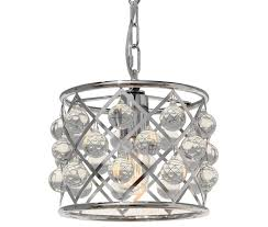 cassiel mini drum crystal chandelier chrome