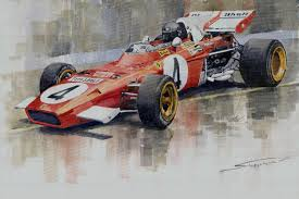red racing car picture landscape watercolor prints canvas painting giant posters masterpiece home decorative art free in wall stickers from home