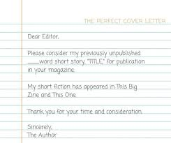 cover letter short story when submitting a story to a short fiction market writing a good