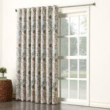 sun zero 48019 kara room darkening energy efficient grommet patio door curtain panel 100 x patio door curtains r78