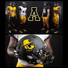 appalachian state unveiled their new uniform combinations today