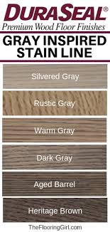New Gray Blended Hardwood Stains By Duraseal The Flooring Girl
