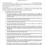 Sales Representative Contract Agreement Template Sales ...