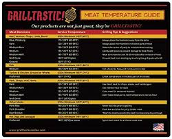 Grilling Temperature Chart Large Meat Temperature Magnet Bbq Tool Cooking Chart Usa Made Awesome Grill Accessory For Indoor Or Outdoor Pit Masters