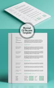 minimal resume template psd resume templates