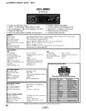wiring diagram for pins sony cdx 4000x support related sony cdx 4000x manual pages