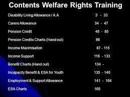 Pension Credit Entitlement Chart Welfare Rights Training 2009 Contents Welfare Rights