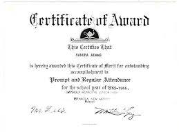 Attendance Award Template Free Printable Perfect Attendance Certificate Template