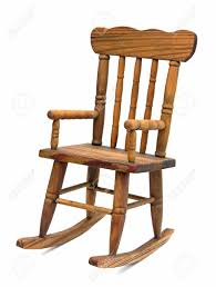 old wooden rocking chair on white background stock photo 45944934