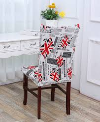 union jack pattern stretch elastic removable chair cover