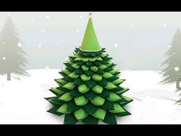 Christmas Tree In Chart Paper 3d Paper Christmas Tree How To Make A Diy Paper Christmas Tree X Mas Tree Decorations