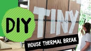 diy bracing for steel tiny house thermal break nz