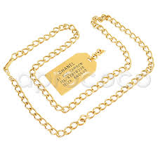 chanel 1982 long chain necklace w