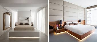 lighting bed. 9 Bedrooms With Beds That Feature Hidden Lighting Bed