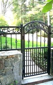 decorative metal garden gates wrought iron blog yard