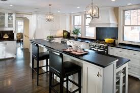 modern kitchen design white cabinets soapstone countertops black