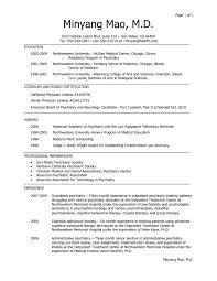 Medical School Resume Format] Medical School Admissions Resume .