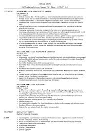 Strategic Planning Resume Examples Manager Strategic Planning Resume Samples Velvet Jobs 1