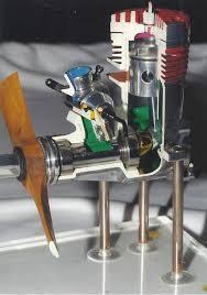 Engine Display Stand Enchanting Cutaway Model RC Aeroplane Engine Mounted On Display Stand Model