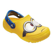 Childrens <b>Crocs CrocsFunLab Minions Clog</b> Juniors Size 2 M Yellow